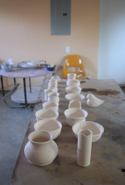 Our first bisque firing